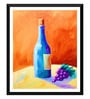 Paper 12 x 0.5 x 17 Inch That Bottle of Wine Framed Digital Poster by Tallenge
