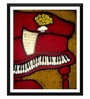 Paper 12 x 0.5 x 17 Inch The Piano Framed Digital Poster by Tallenge