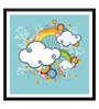 Tallenge Paper 12 x 0.5 x 17 Inch Think High to Fly High Framed Digital Poster