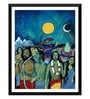 Paper 14 x 0.5 x 18 Inch Contemporary Indian Art Waiting for Salvation Framed Digital Poster by Tallenge