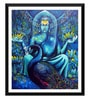 Paper 15 x 0.5 x 18 Inch Buddha with Peacock Framed Digital Poster by Tallenge
