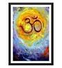 Tallenge Paper 15 x 0.5 x 24 Inch Om Framed Digital Poster