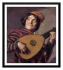 Paper 16 x 0.5 x 18 Inch The Lute Player by Frans Hals Framed Digital Poster by Tallenge