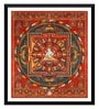 Paper 16 x 0.5 x 18 Inch Vintage Art Ushnishavijaya Mandala C1500 Framed Digital Poster by Tallenge