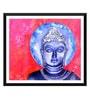 Paper 17 x 0.5 x 12 Inch Blue Buddha Art Framed Digital Poster by Tallenge