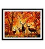 Tallenge Paper 17 x 0.5 x 12 Inch Brown Deer Farm Framed Digital Poster