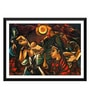 Paper 17 x 0.5 x 12 Inch Contemporary Indian Art Waiting & Wishing Framed Digital Poster by Tallenge