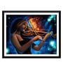 Paper 17 x 0.5 x 12 Inch Girl with The Burning Violin Framed Digital Poster by Tallenge