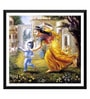 Paper 17 x 0.5 x 12 Inch Mother Yasoda Chases Krishna Framed Digital Poster by Tallenge
