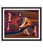 Tallenge Paper 18 x 0.5 x 14 Inch Colorful Fish Art Framed Digital Poster