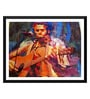 Paper 18 x 0.5 x 14 Inch The Musician Framed Digital Poster by Tallenge