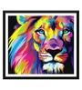 Tallenge Paper 18 x 0.5 x 16 Inch Majestic Lion Framed Digital Poster