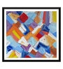Tallenge Paper 18 x 0.5 x 18 Inch Abstract Painting Mosaic Framed Digital Poster