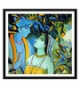 Paper 18 x 0.5 x 18 Inch Enchanting Krishna with Radha Framed Digital Poster by Tallenge