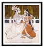 Paper 18 x 0.5 x 18 Inch Krishna & Radha Framed Digital Poster by Tallenge