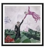 Tallenge Paper 18 x 0.5 x 18 Inch Marc Chagall The Promenade Framed Digital Poster