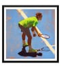 Paper 18 x 0.5 x 18 Inch Spirit of Sports Abstract Painting Tennis Roger Federer Framed Digital Poster by Tallenge