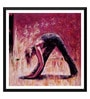 Paper 18 x 0.5 x 18 Inch Spirit of Sports Abstract Painting Yoga Pose 2 Framed Digital Poster by Tallenge