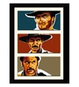 Paper 20 x 0.5 x 30 Inch Hollywood Collection The Good The Bad & The Ugly Graphic Art Framed Digital Poster by Tallenge