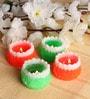 Multicolour Floating Candle - Set of 4 by Tanariri Hastakala
