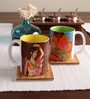 Tangerine Desi Beat Porcelain 250 ML Mugs - Set of 2