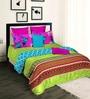 Tangerine Desi Beats 2 Green Cotton 108 x 90 Inch Wadding Comforter