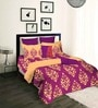 Tangerine Fete Purple Double Bedsheet Set