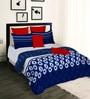 Tangerine Indigo Bay Cotton Abstract 108 x 90 Inch Comforter