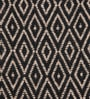 Tasar Black & Beige Diamond Silk 16 x 16 Inch Diamond Cushion Cover