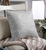 Grey Silk 16 x 16 Inch Sequin Cushion Cover by Tasar