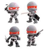Teenage Mutant Ninja Turtles Action Vinyl Figures 4-Pack Battle Damage 8 cm