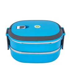 Tedemei - Homio 2 Layers Rectangle Blue Lunch Box