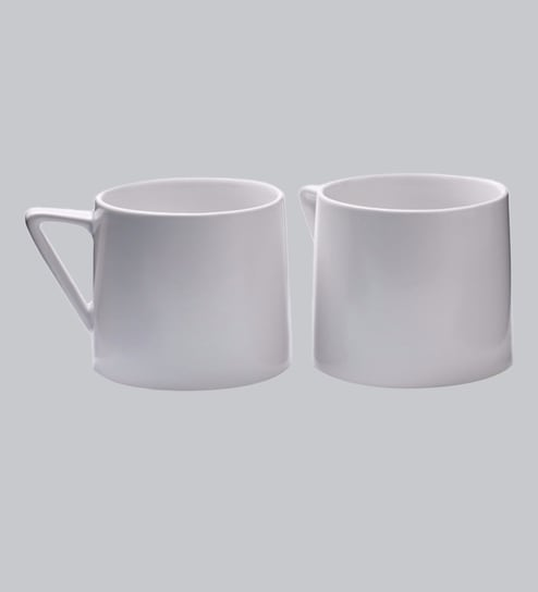 Iconic Tea Cup | Matte White Stoneware | 300 ML (Set of 2) By Teabox