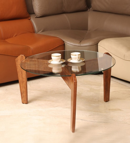 Ka Solid Wood Centre Table In Teak Finish By F9 Furnichair