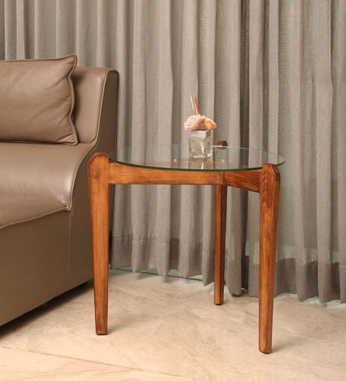 walnut end table. Teenka Solid Wood End Table In Walnut Finish By F9 Furnichair
