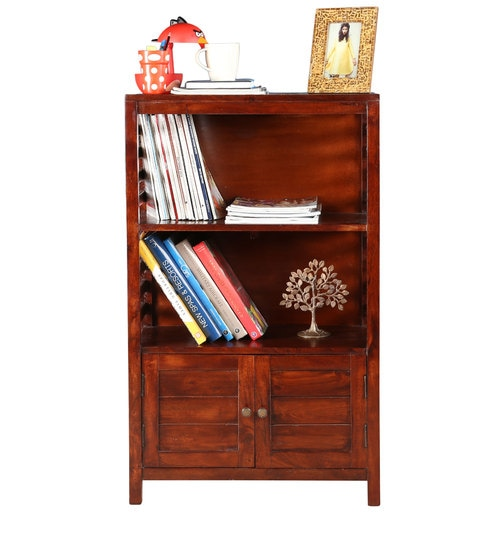 Telford Solidwood Book Shelf In Chestnut Finish By Hometown