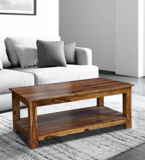 Texas Center Table In Honey Oak Finish By Woodcrony Online Contemporary