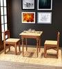 Teak Wood Two Seater Coffee cum Breakfast Table & Chair Set by SmalShop