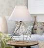White Fabric Table Lamp by Tezerac
