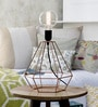 Copper Iron Table Lamp by Tezerac