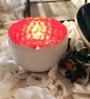 Tezerac Red & White Iron Hammered Votive Tea Light Holder - Set of 2