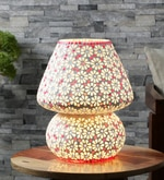Multicolour Glass Table Lamp