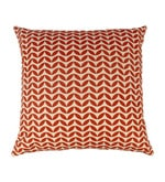White & Red Cotton 17 x 17 Inch Cushion Cover