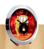 Multicolour Glass & Plastic 5 x 2 x 4 Inch Rickshawala Chrome Alarm Clock