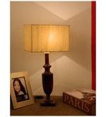 The Lamp Store Khadi Poly Cotton Classic Rectangular Table Lamp