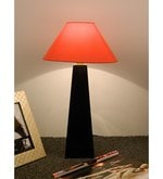 Orange Poly Cotton Facinating Table Lamp