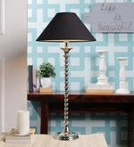 Black Cotton Table Lamp