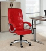 The Mariposa Executive High Back Chair in Red Colour