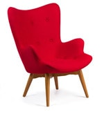 The Reggio Replica Wing Chair in Red Colour