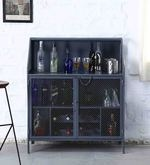 Thompson Bar Cabinet in Grey Colour